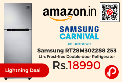 Samsung RT28M3022S8 253 Ltrs Frost-free Double-door Refrigerator at Rs.18990 Only - Amazon
