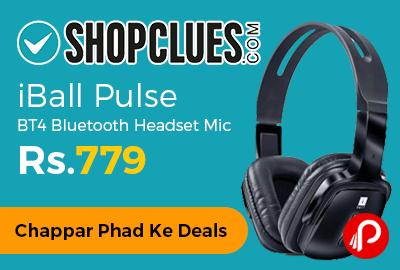 iBall Pulse BT4 Bluetooth Headset Mic