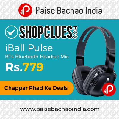 iBall Pulse BT4 Bluetooth Headset Mic