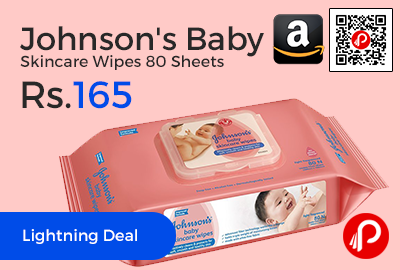 Johnson's Baby Skincare Wipes 80 Sheets