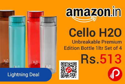Cello H2O Unbreakable Premium Edition Bottle 1ltr