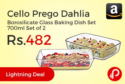 Cello Prego Dahlia Borosilicate Glass Baking Dish Set 700ml