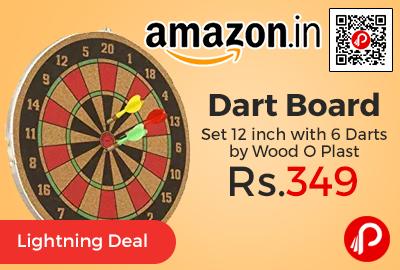 Dart Board Set 12 inch with 6 Darts