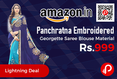 Panchratna Embroidered Georgette Saree Blouse Material