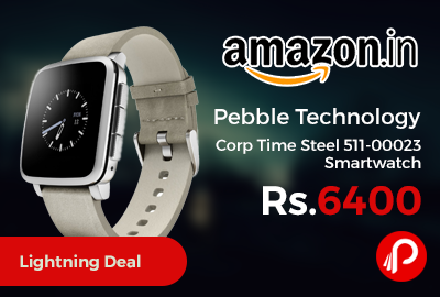 Pebble Technology Corp Time Steel 511-00023 Smartwatch