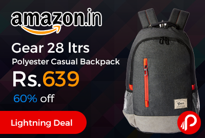 Gear 28 ltrs Polyester Casual Backpack