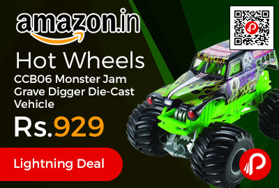 Hot Wheels CCB06 Monster Jam Grave Digger Die-Cast Vehicle