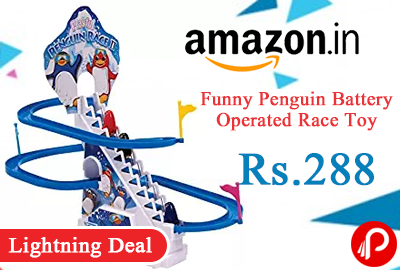 Funny Penguin Battery Operated Race Toy