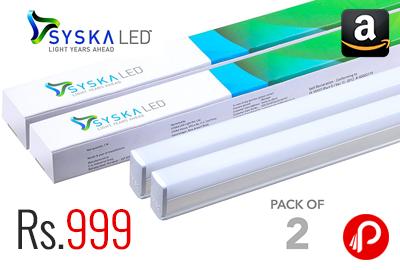 Syska 22 Watts T5 LED Tube Light Pack of 2