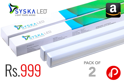 Syska 22 Watts T5 LED Tube Light Pack of 2