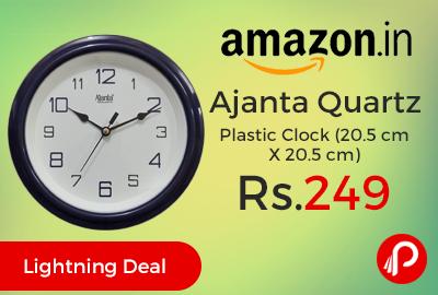 Ajanta Quartz Plastic Clock