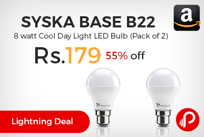 Syska Base B22 8 watt Cool Day Light LED Bulb