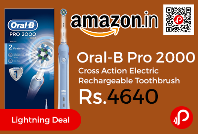 Oral-B Pro 2000 Cross Action Electric Rechargeable Toothbrush