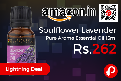 Soulflower Lavender Pure Aroma Essential Oil 15ml