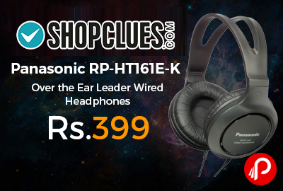 Panasonic RP-HT161E-K Over the Ear Leader Wired Headphones
