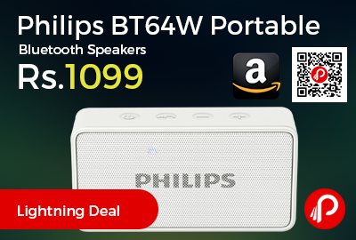 Philips BT64W Portable Bluetooth Speakers