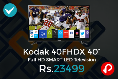 "Kodak 40FHDX 40"" Full HD SMART LED Television"