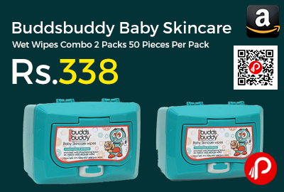 Buddsbuddy Baby Skincare Wet Wipes Combo 2 Packs 50 Pieces Per Pack