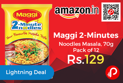 Maggi 2-Minutes Noodles Masala, 70g Pack of 12