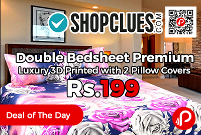 Double Bedsheet Premium Luxury 3D Printed with 2 Pillow Covers