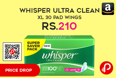 Whisper Ultra Clean XL 30 Pad Wings
