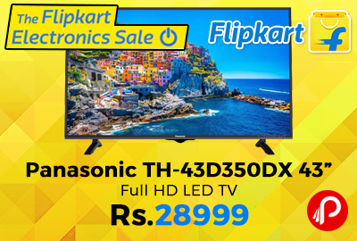 "Panasonic TH-43D350DX 43"" Full HD LED TV"