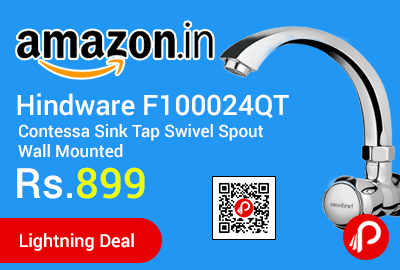 Hindware F100024QT Contessa Sink Tap Swivel Spout Wall Mounted