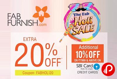 The Feb Holi Sale Extra 20% Off + Additional 10% SBI Card On Furniture U2013  FabFurnish