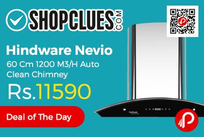 Hindware Nevio 60 Cm 1200 M3/H Auto Clean Chimney
