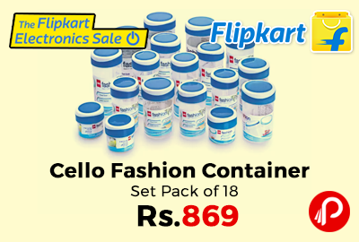 Cello Fashion Container Set Pack of 18