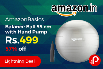 AmazonBasics Balance Ball 55 cm with Hand Pump