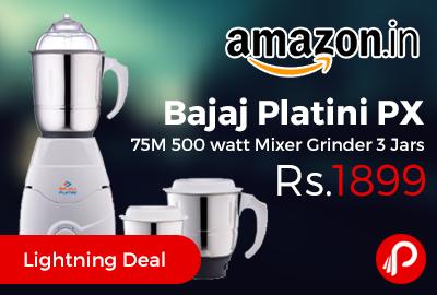 33db1fd619b Bajaj Platini PX 75M 500 watt Mixer Grinder low prices - Best Online ...