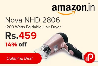 Nova NHD 2806 1200 Watts Foldable Hair Dryer