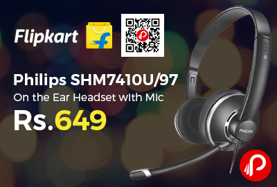 Philips SHM7410U/97 On the Ear Headset with Mic