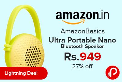 AmazonBasics Ultra Portable Nano Bluetooth Speaker