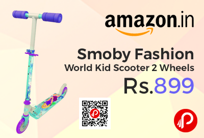 Smoby Fashion World Kid Scooter 2 Wheels