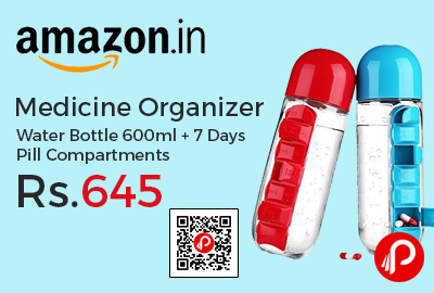 Medicine Organizer Water Bottle 600ml