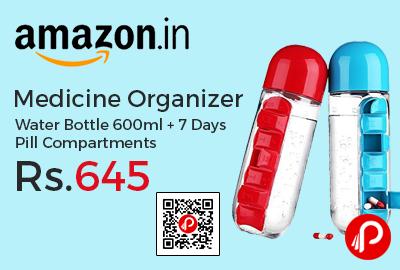 Medicine Organizer Water Bottle 600ml