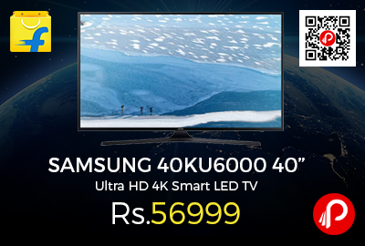 "SAMSUNG 40KU6000 40"" Ultra HD 4K Smart LED TV"