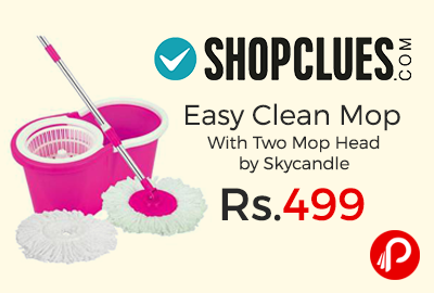 Easy Clean Mop With Two Mop Head