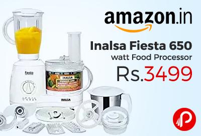 Inalsa Fiesta 650 watt Food Processor