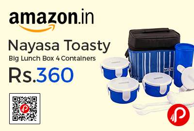 Nayasa Toasty Big Lunch Box 4 Containers