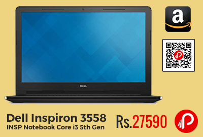 Dell Inspiron 3558 INSP Notebook Core i3 5th Gen