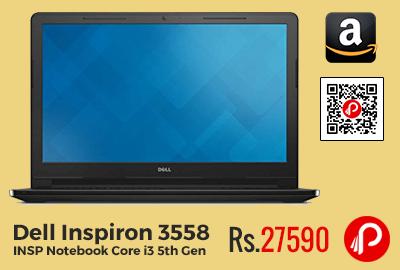 Dell Inspiron 3558 INSP Notebook Core i3 5th Gen