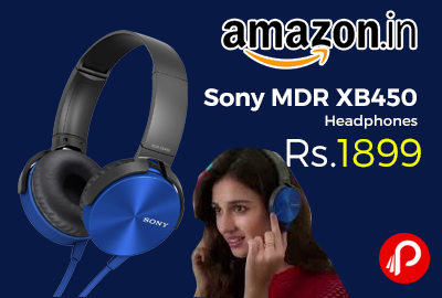 Sony MDR XB450 Extra Bass Wired Headphones at Rs.1899 Only – Amazon b153994dd50da
