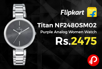 Titan NF2480SM02 Purple Analog Women Watch