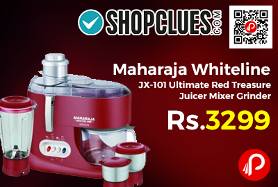 Maharaja Whiteline JX-101 Ultimate Red Treasure Juicer Mixer Grinder