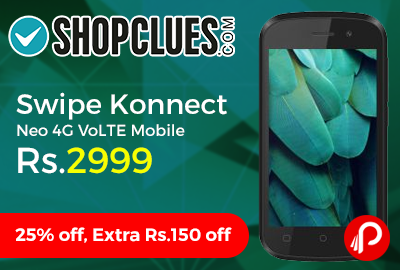 Ex Swipe Konnect Neo 4G VoLTE Mobile