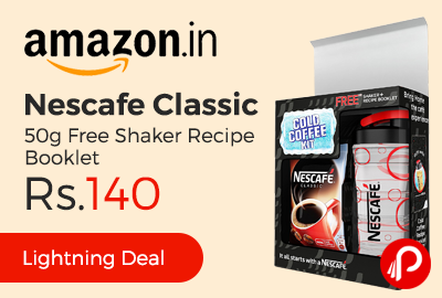 Nescafe Classic Coffee 50g Free Shaker Recipe Booklet