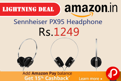Sennheiser PX95 Headphone 69% off at Rs.1249 Only - Amazon